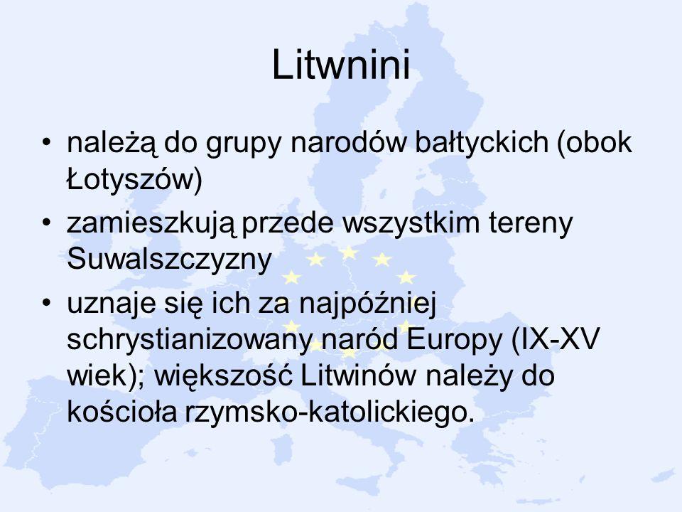 Litwnini należą do grupy narodów bałtyckich (obok Łotyszów)