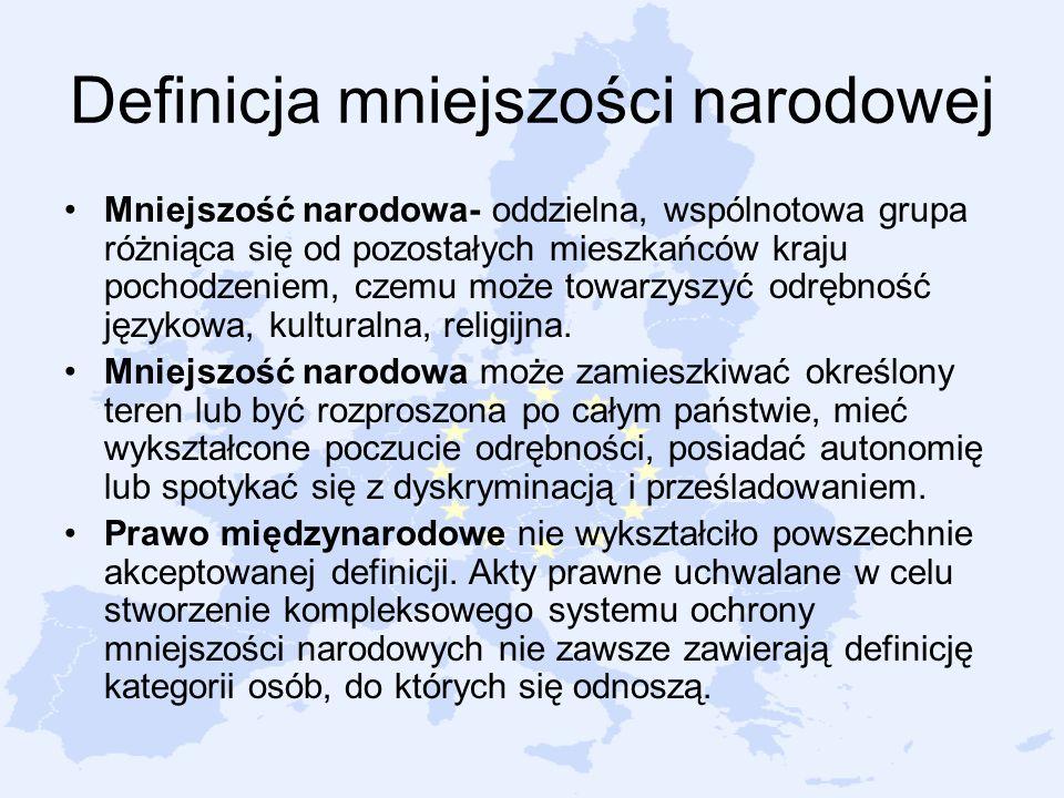 Definicja mniejszości narodowej