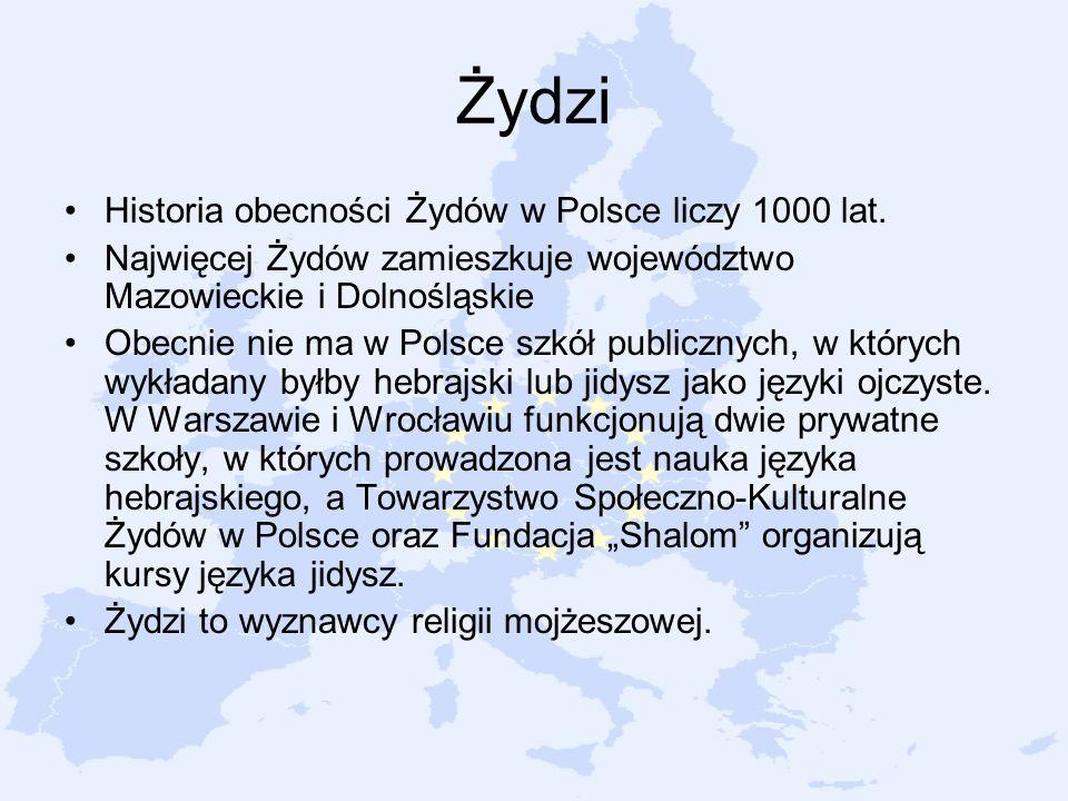 Żydzi Historia obecności Żydów w Polsce liczy 1000 lat.