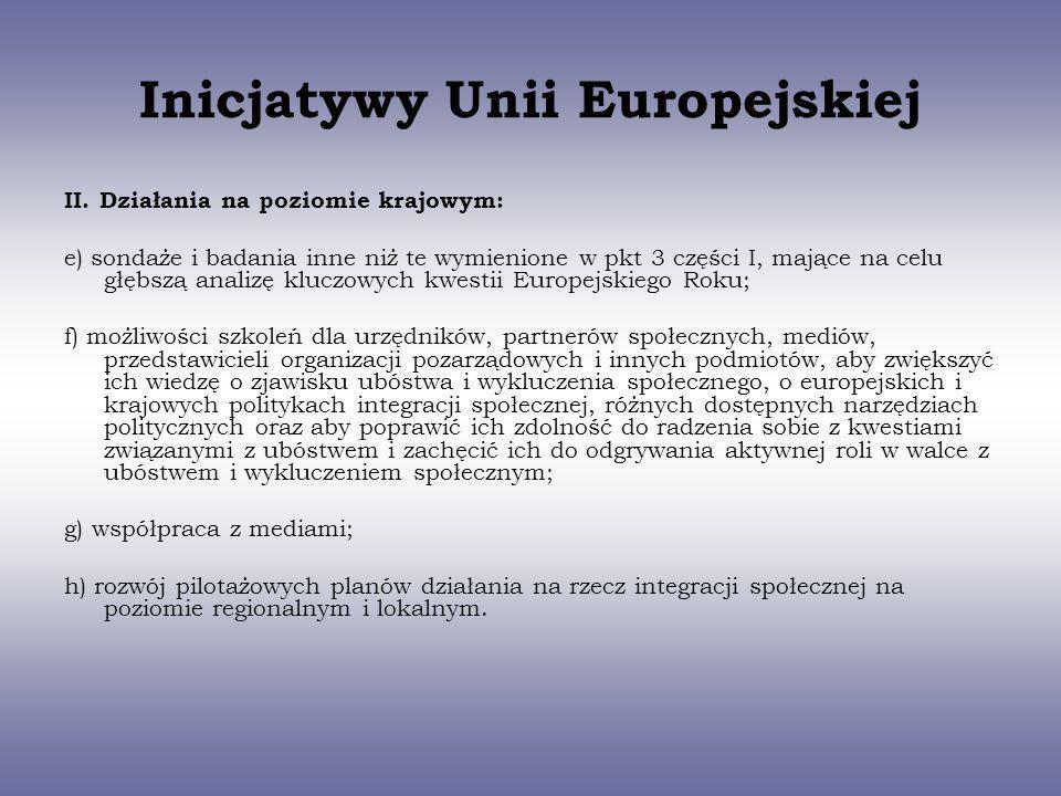 Inicjatywy Unii Europejskiej