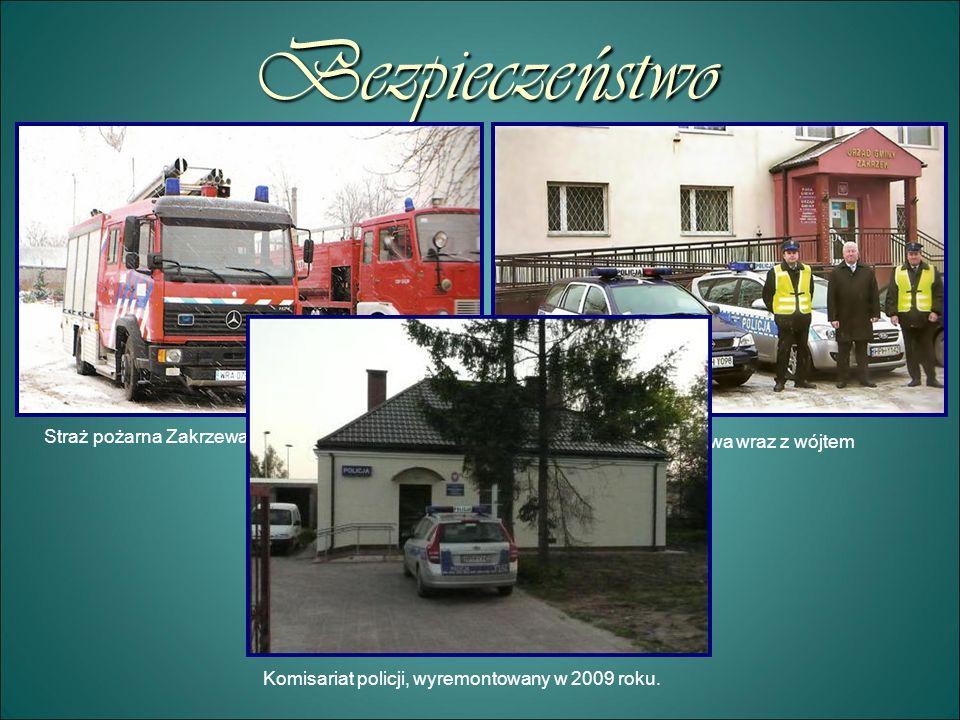 Bezpieczeństwo Straż pożarna Zakrzewa Policja Zakrzewa wraz z wójtem