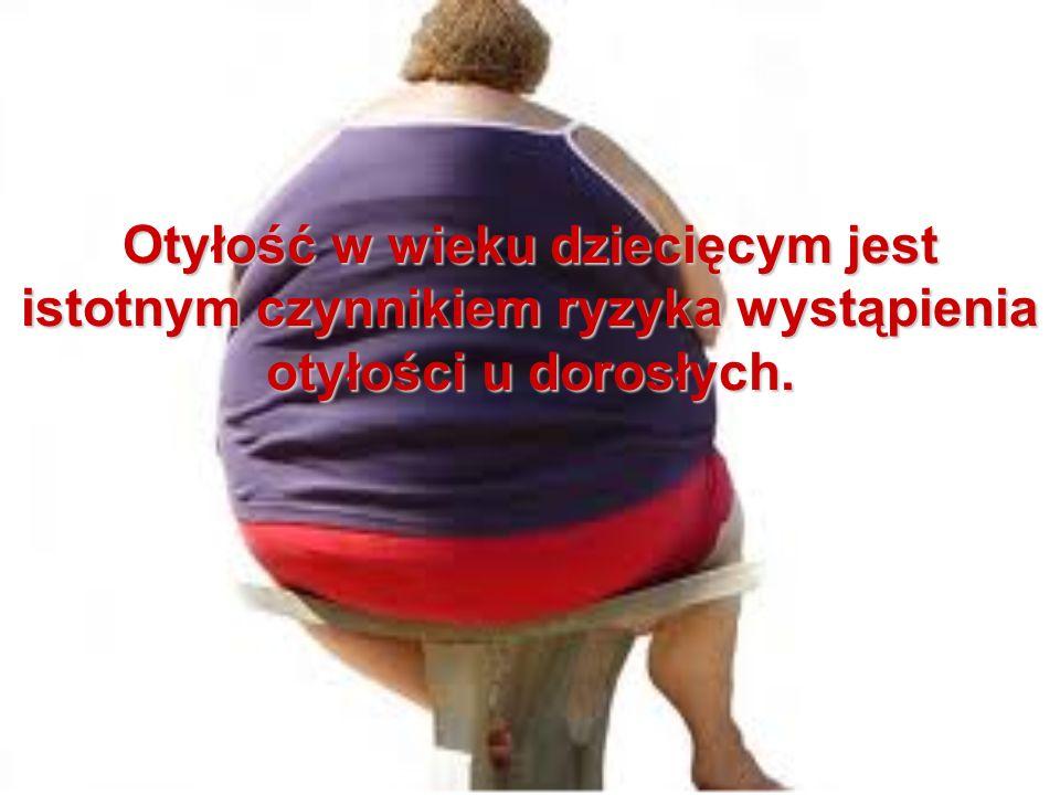 Otyłość w wieku dziecięcym jest istotnym czynnikiem ryzyka wystąpienia otyłości u dorosłych.