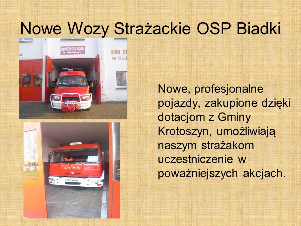 Nowe Wozy Strażackie OSP Biadki