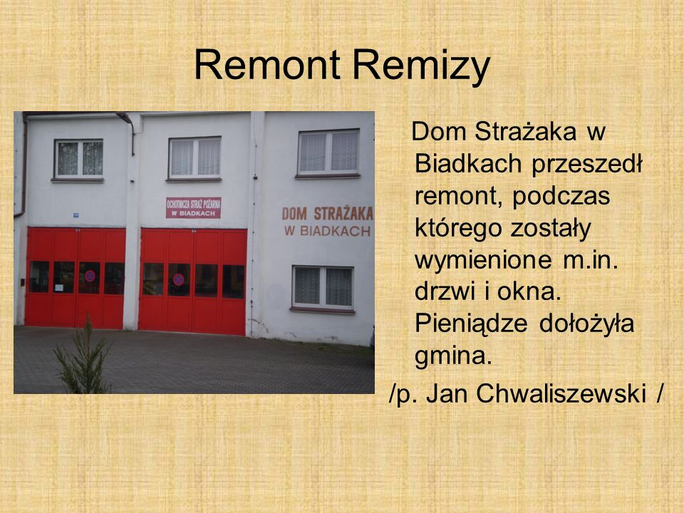Remont Remizy