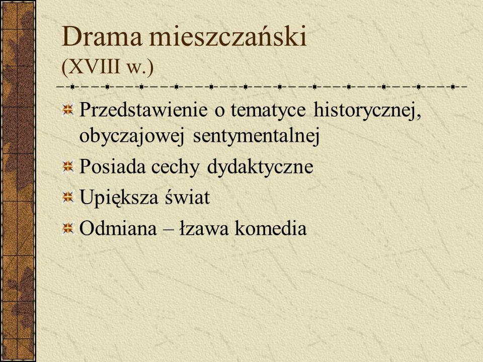 Drama mieszczański (XVIII w.)