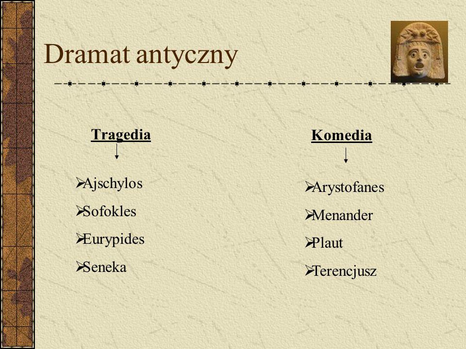 Dramat antyczny Tragedia Komedia Ajschylos Arystofanes Sofokles