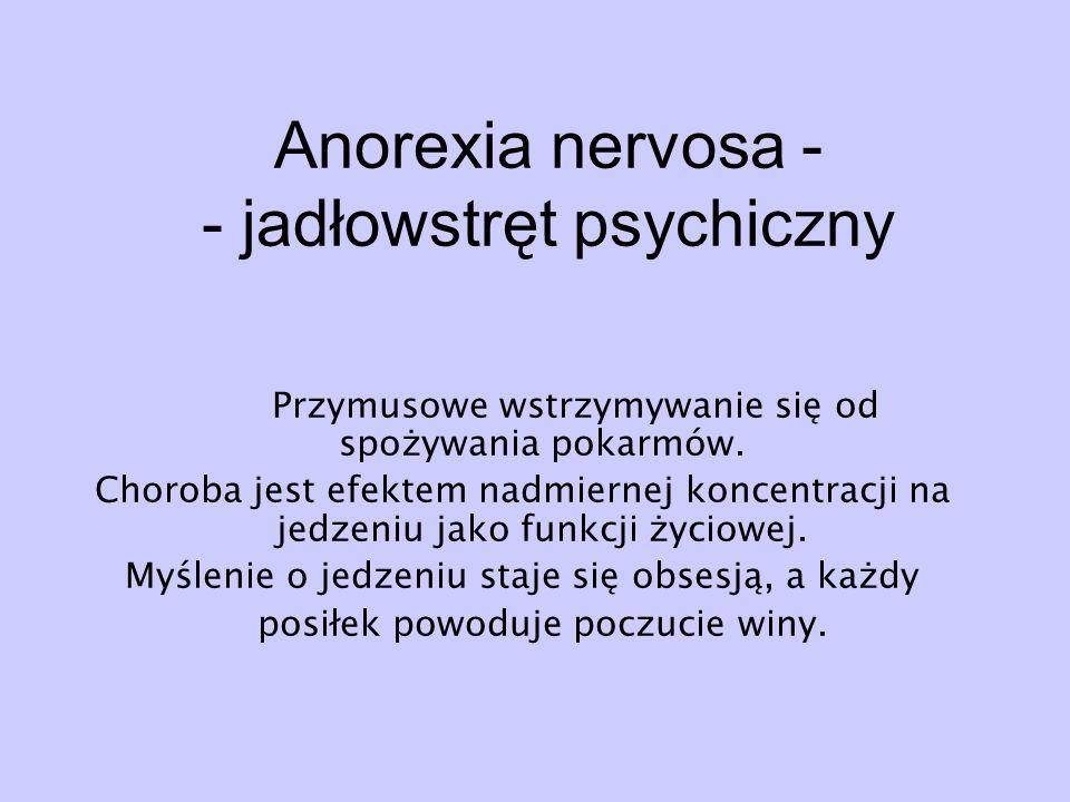 Anorexia nervosa - - jadłowstręt psychiczny