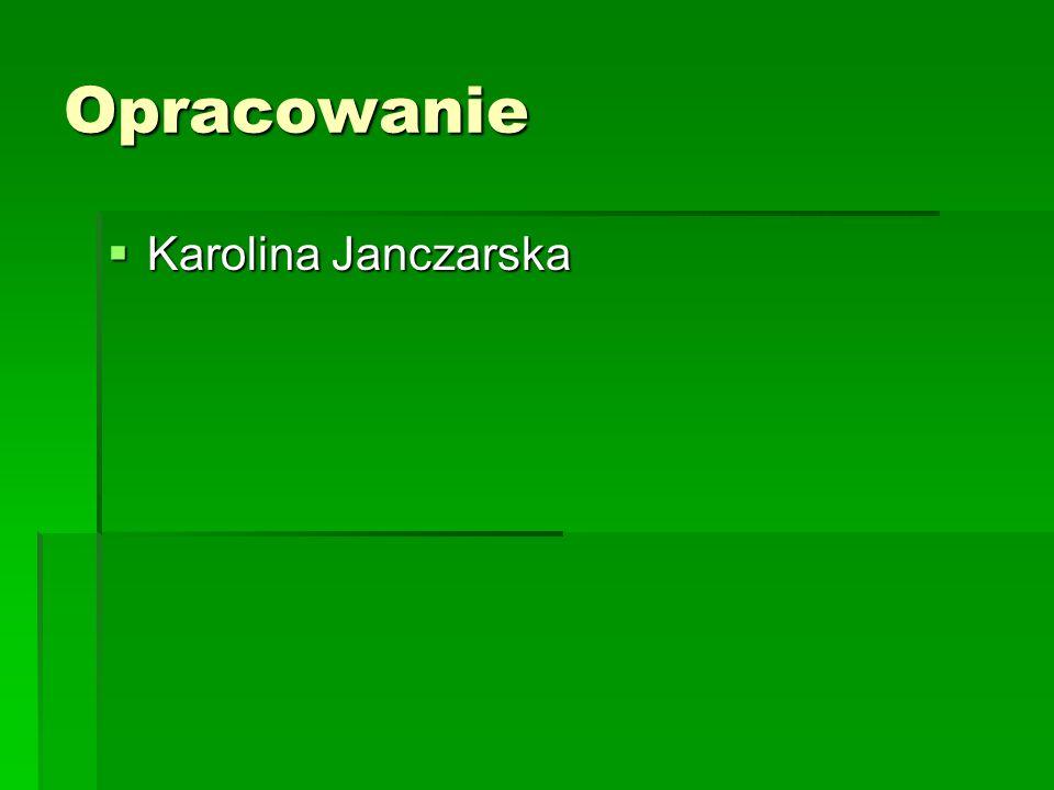 Opracowanie Karolina Janczarska