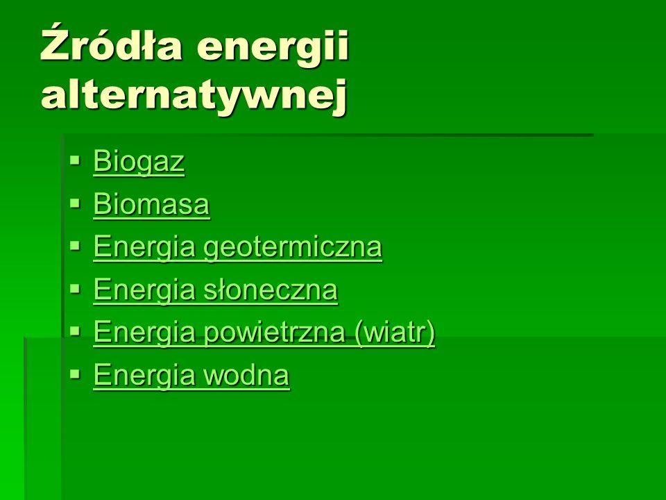Źródła energii alternatywnej