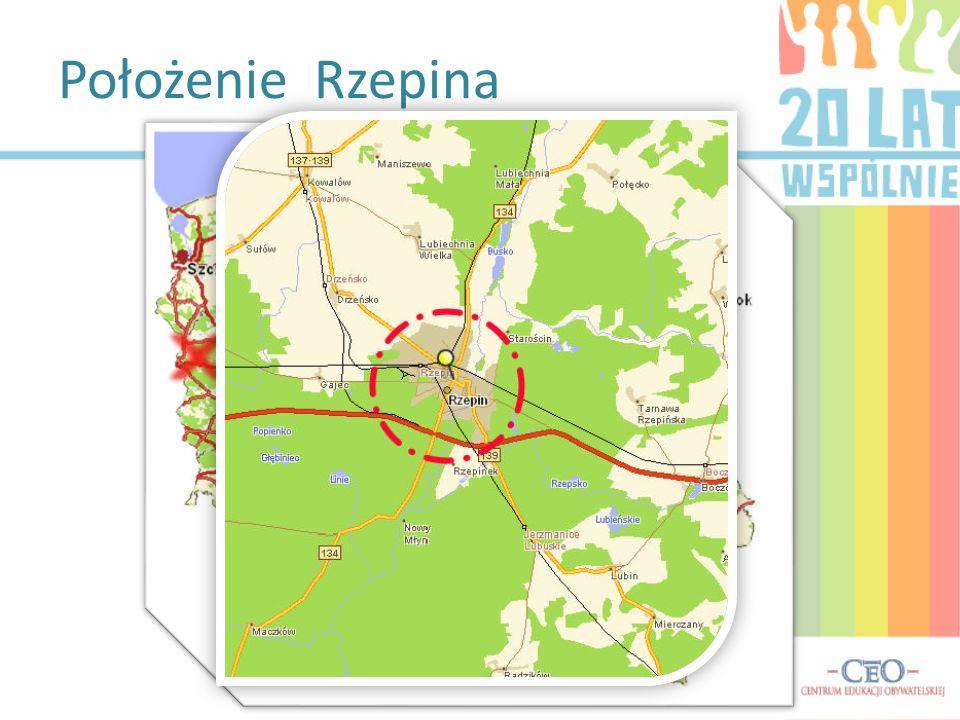 Położenie Rzepina
