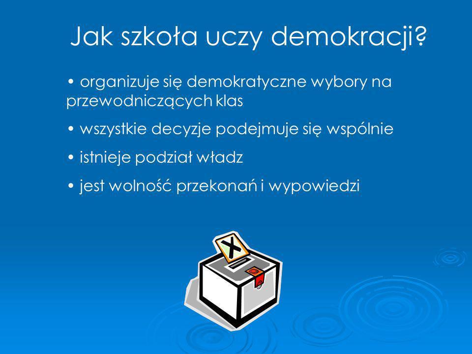 Jak szkoła uczy demokracji