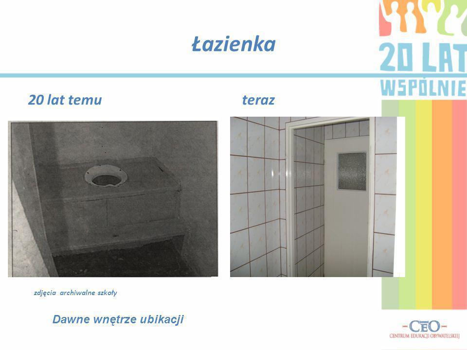 Łazienka 20 lat temu teraz Dawne wnętrze ubikacji