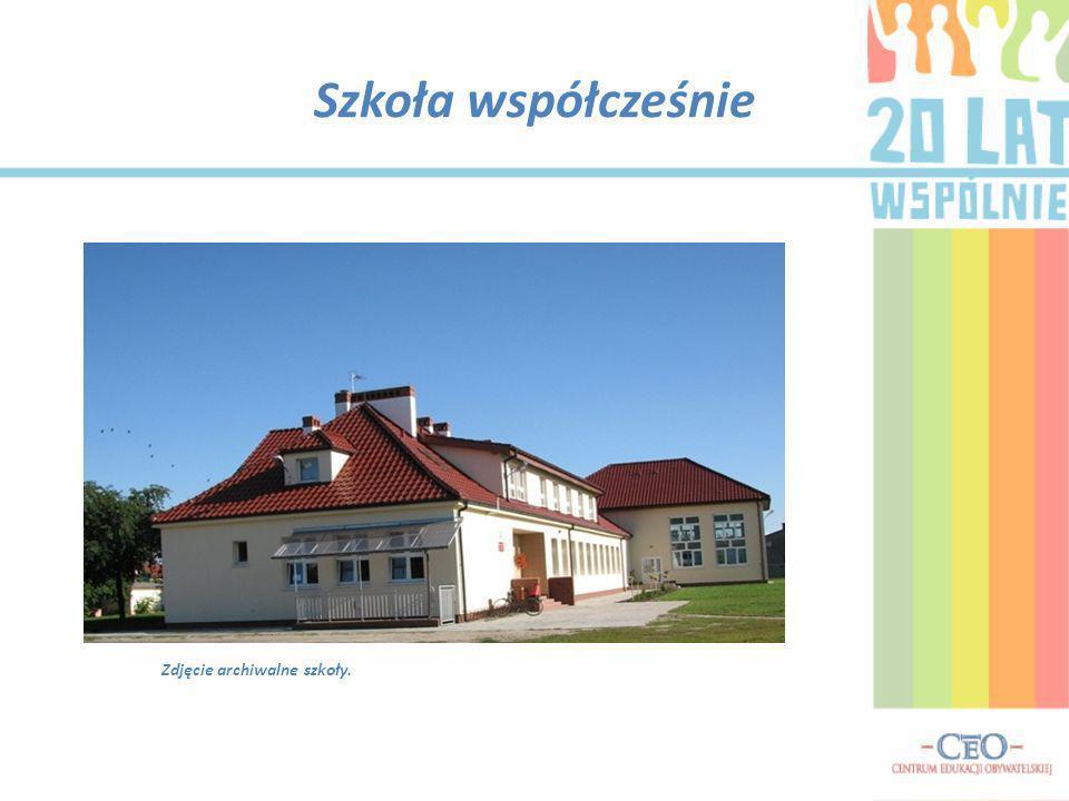 Szkoła współcześnie Zdjęcie archiwalne szkoły.