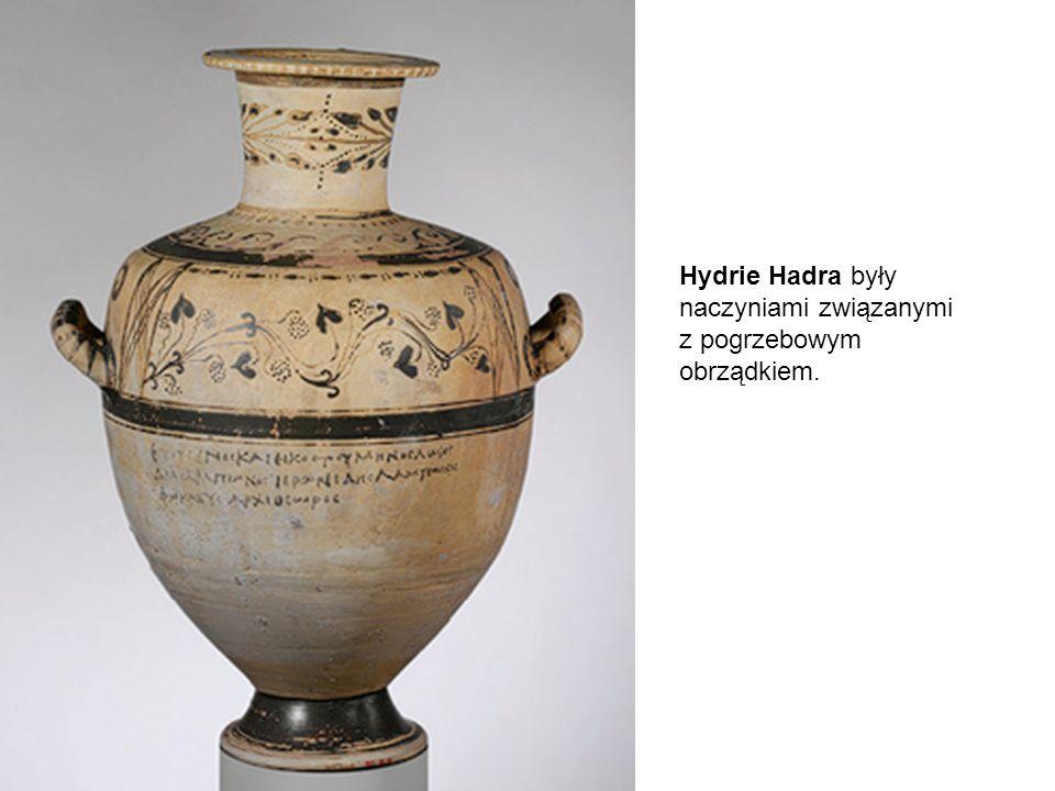 Hydrie Hadra były naczyniami związanymi z pogrzebowym obrządkiem.