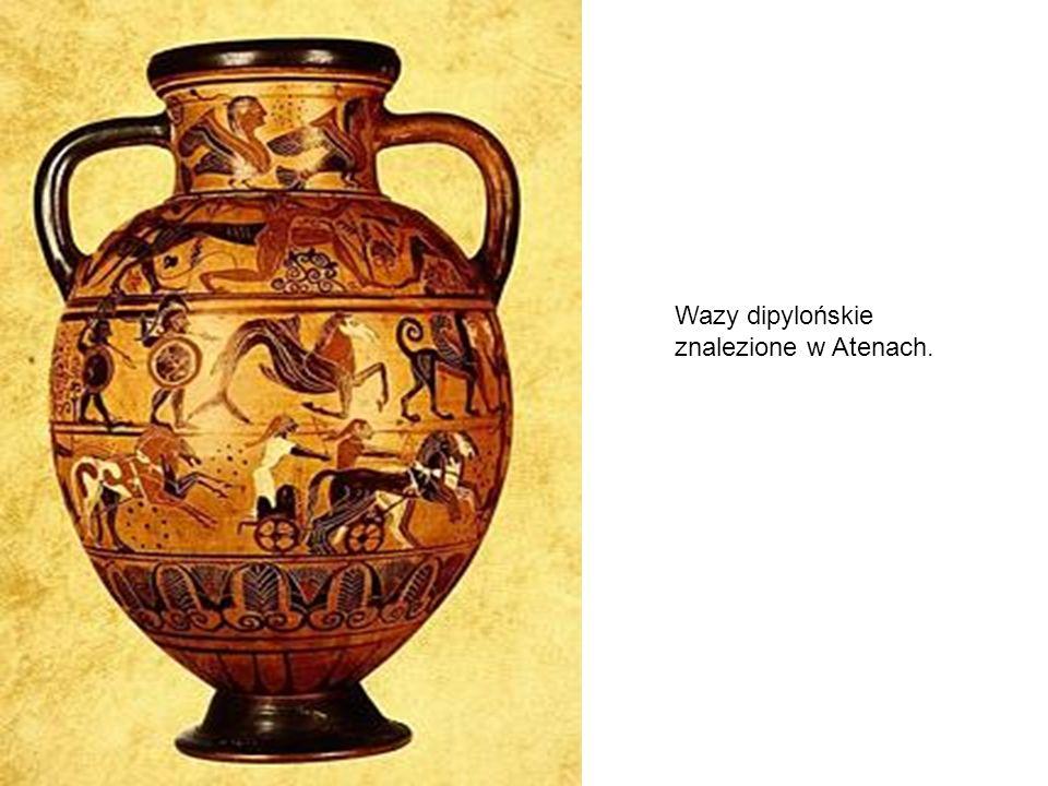 Wazy dipylońskie znalezione w Atenach.