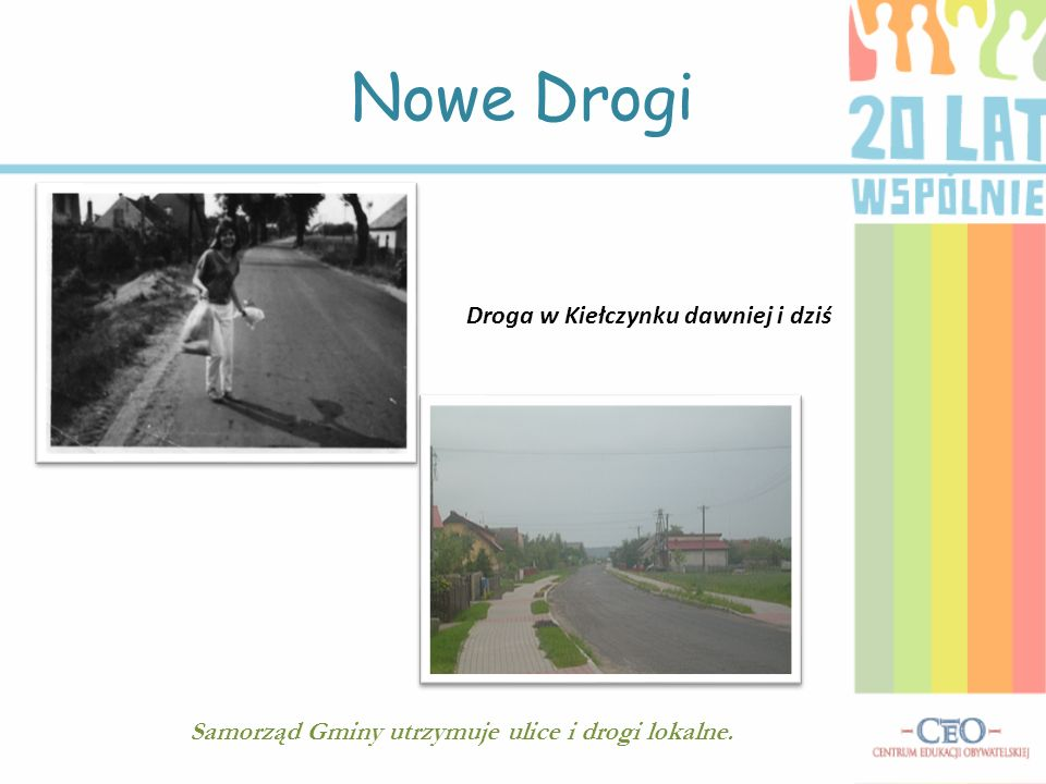 Nowe Drogi Droga w Kiełczynku dawniej i dziś