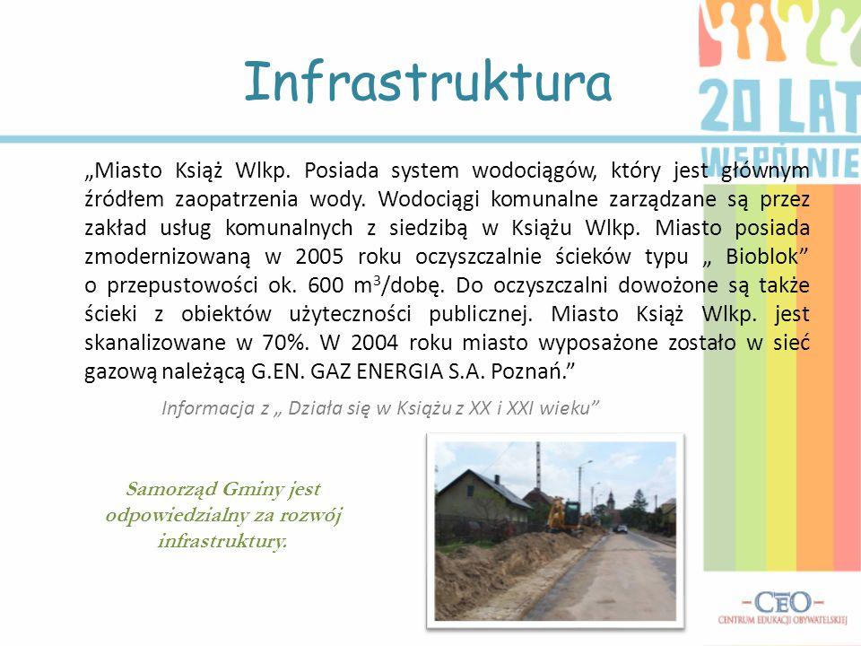 Samorząd Gminy jest odpowiedzialny za rozwój infrastruktury.