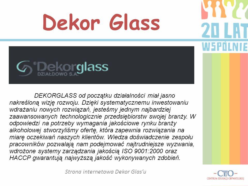Strona internetowa Dekor Glas'u