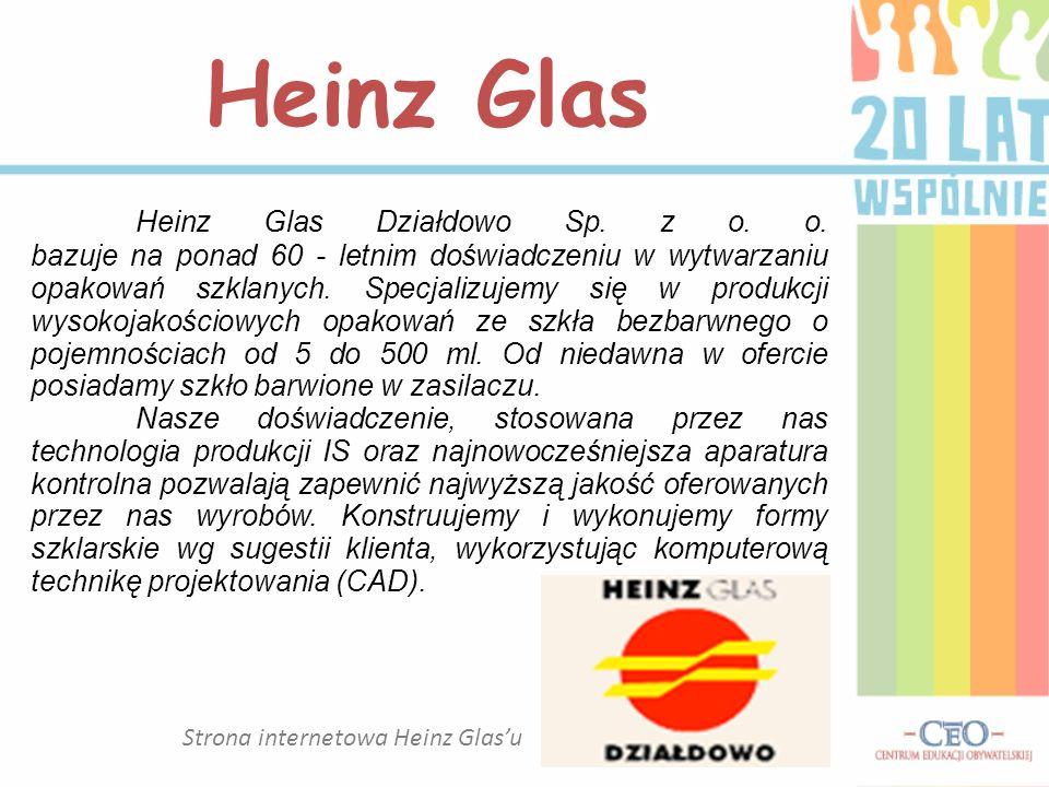 Strona internetowa Heinz Glas'u