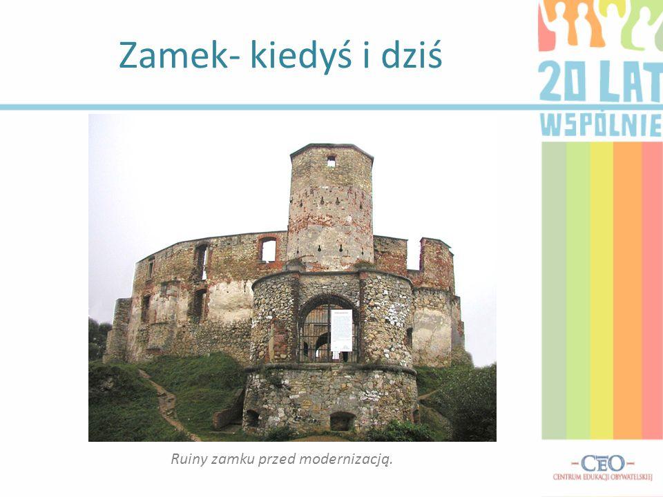 Ruiny zamku przed modernizacją.