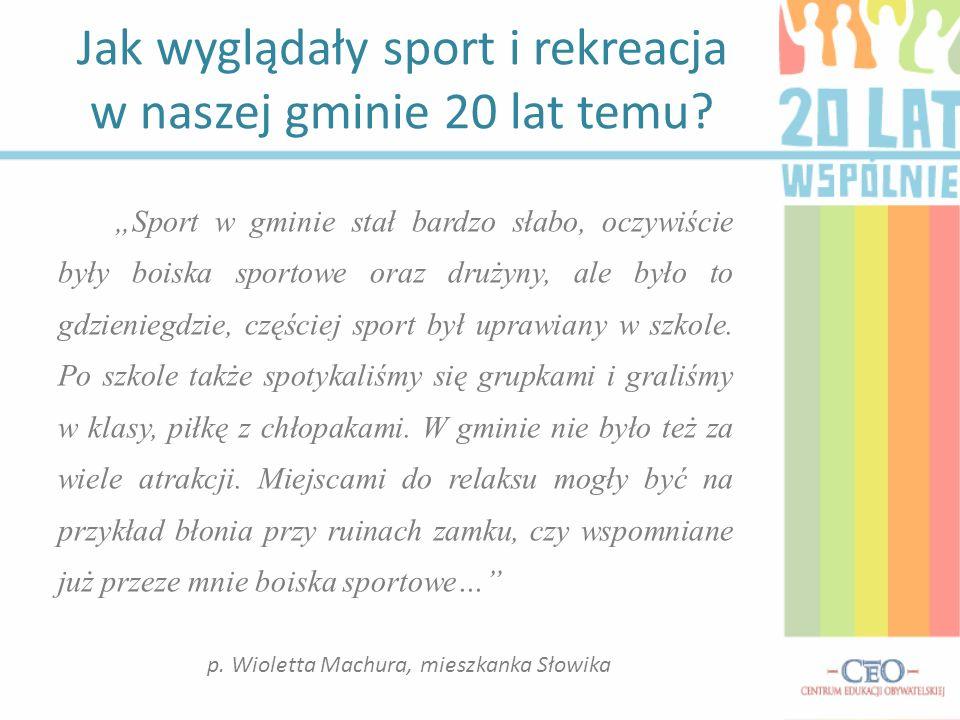 Jak wyglądały sport i rekreacja w naszej gminie 20 lat temu