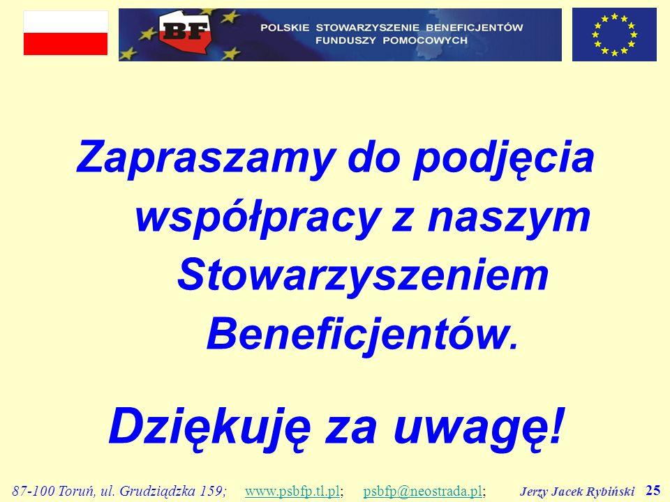 Zapraszamy do podjęcia współpracy z naszym Stowarzyszeniem Beneficjentów.