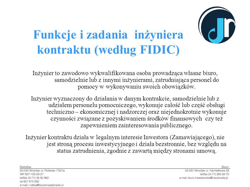 Funkcje i zadania inżyniera kontraktu (według FIDIC)