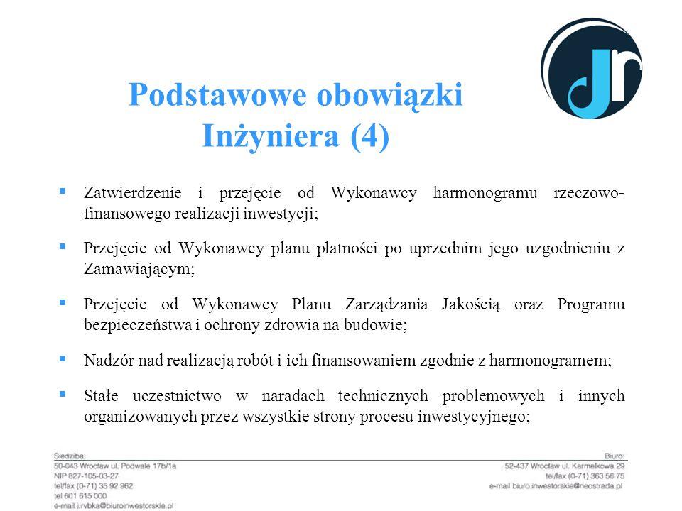Podstawowe obowiązki Inżyniera (4)