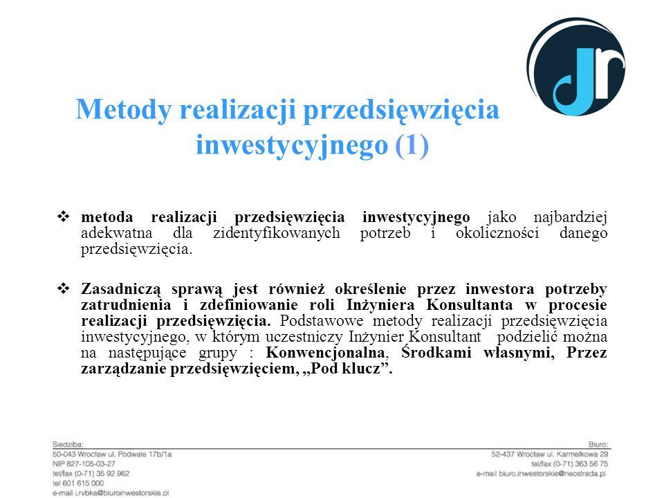Metody realizacji przedsięwzięcia inwestycyjnego (1)