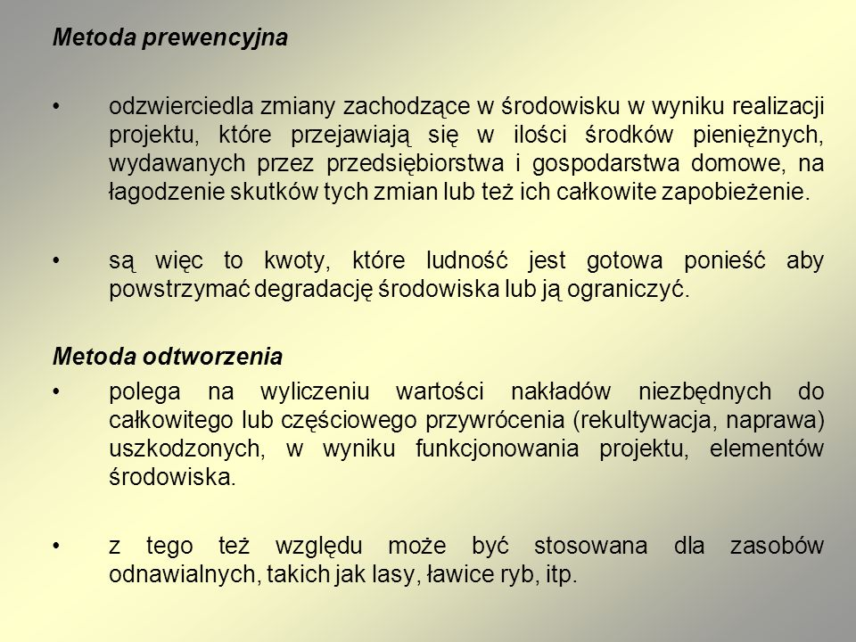 Metoda prewencyjna