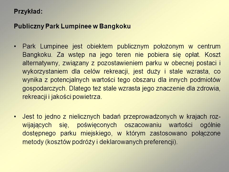 Przykład: Publiczny Park Lumpinee w Bangkoku.