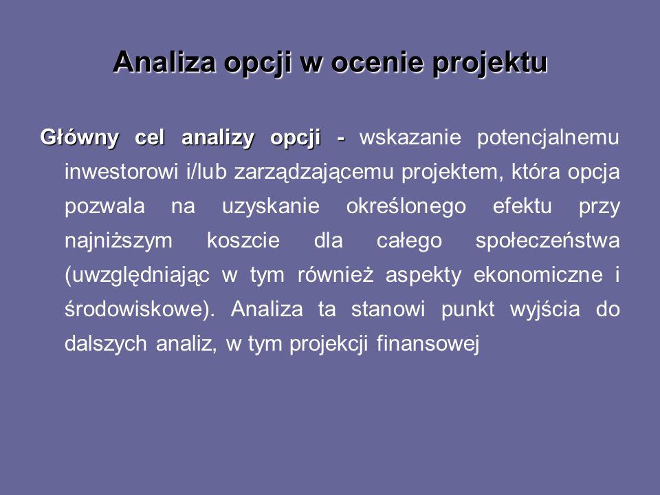 Analiza opcji w ocenie projektu
