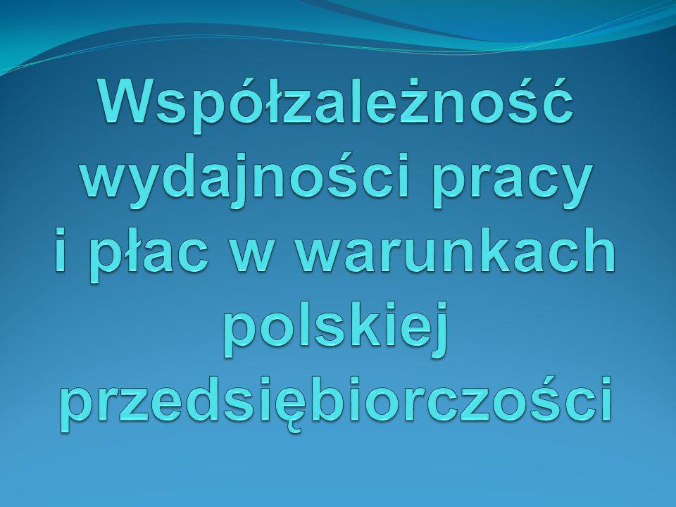 Współzależność wydajności pracy i płac w warunkach polskiej przedsiębiorczości