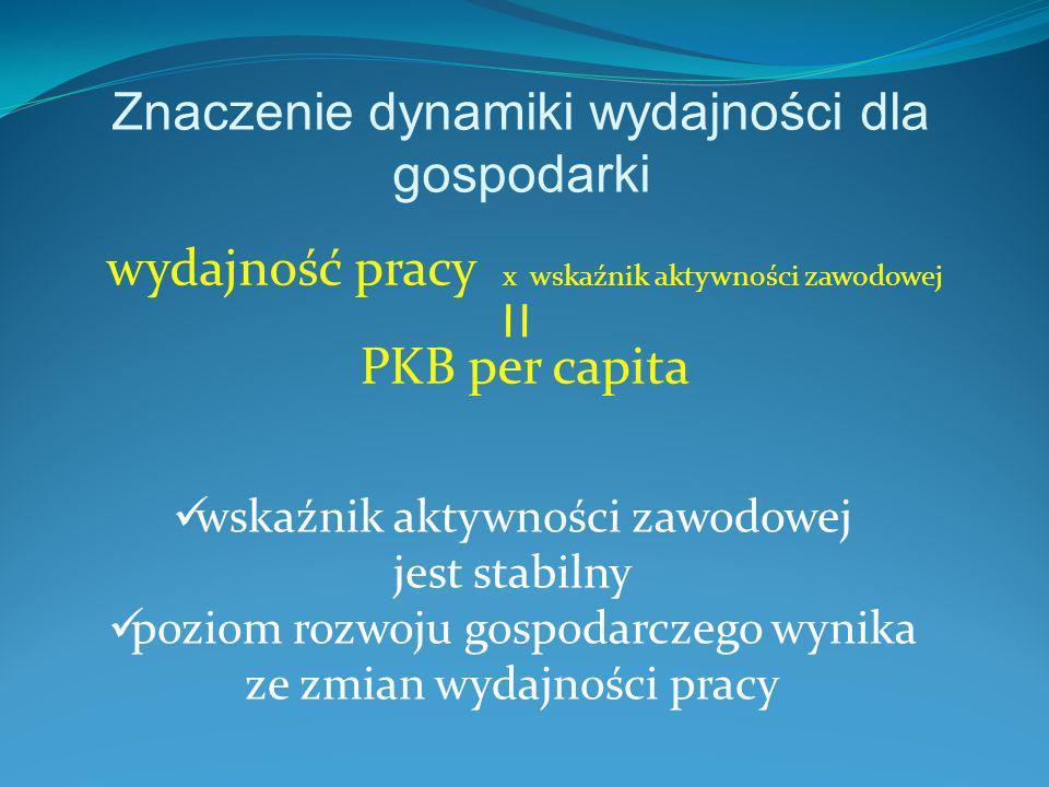 Znaczenie dynamiki wydajności dla gospodarki