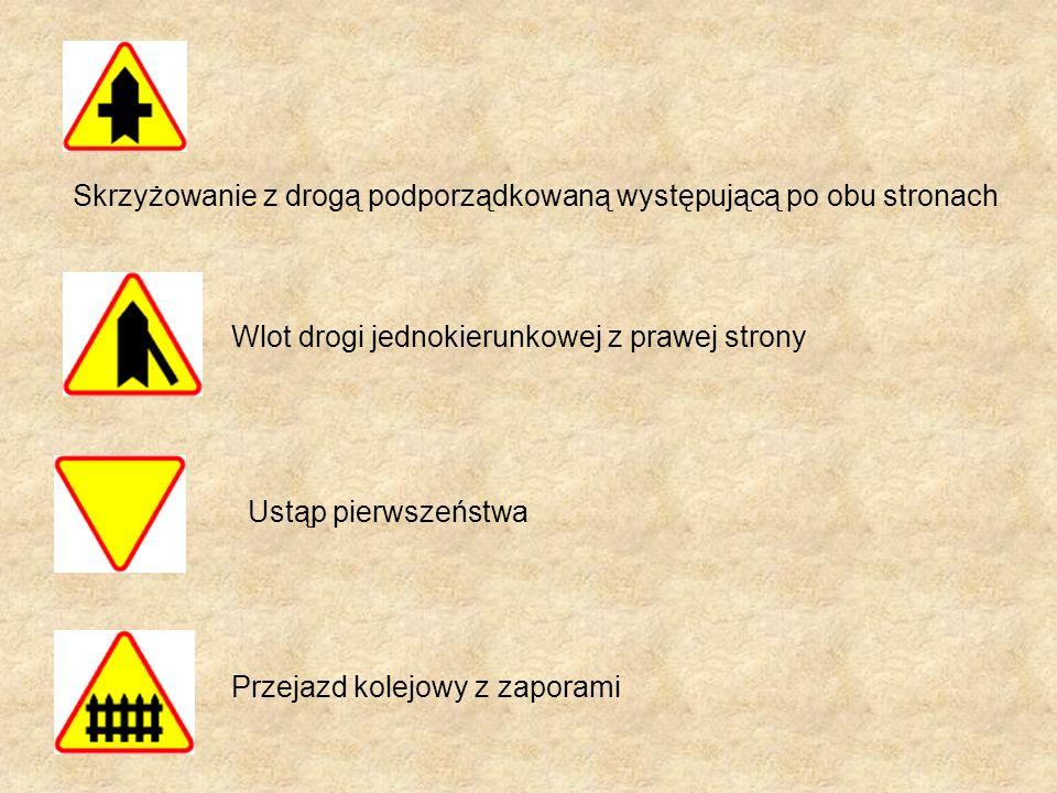 Skrzyżowanie z drogą podporządkowaną występującą po obu stronach