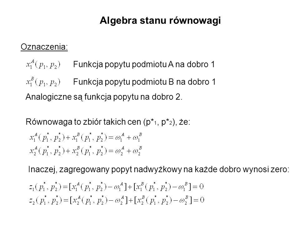 Algebra stanu równowagi