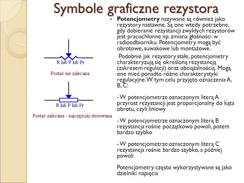 Symbole graficzne rezystora