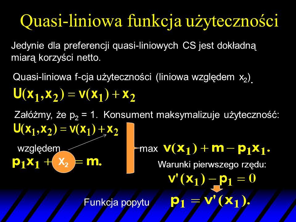Quasi-liniowa funkcja użyteczności