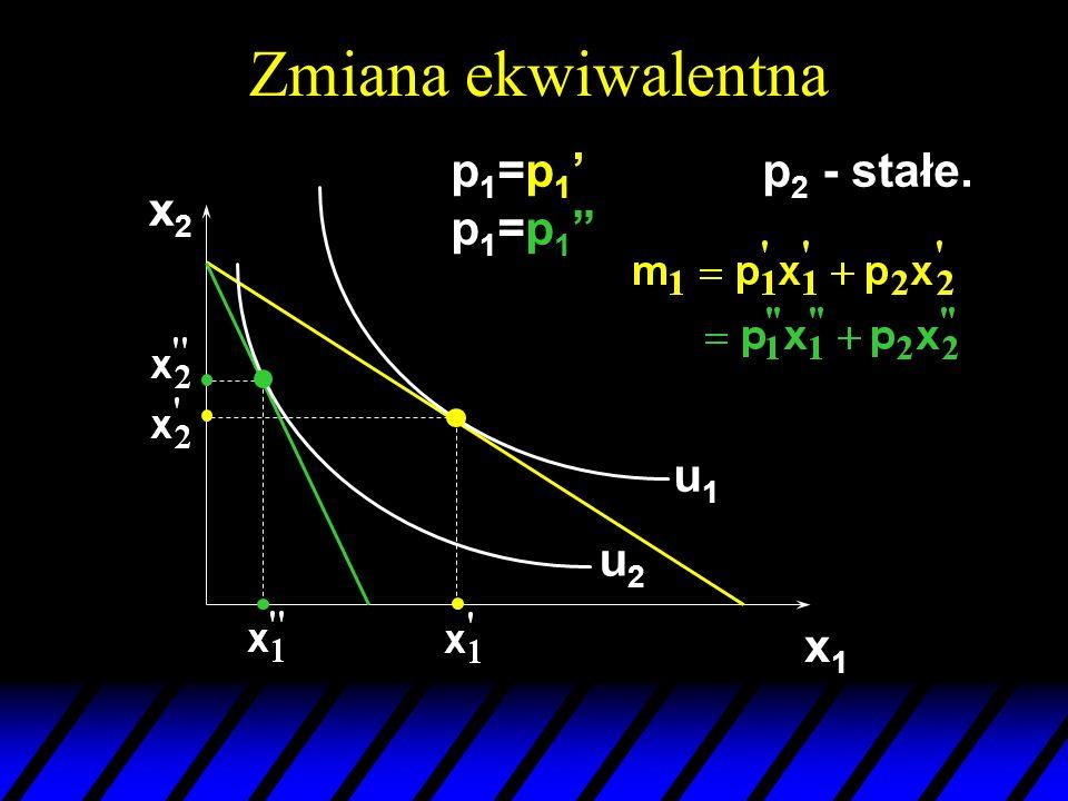 Zmiana ekwiwalentna p1=p1' p1=p1 p2 - stałe. x2 u1 u2 x1