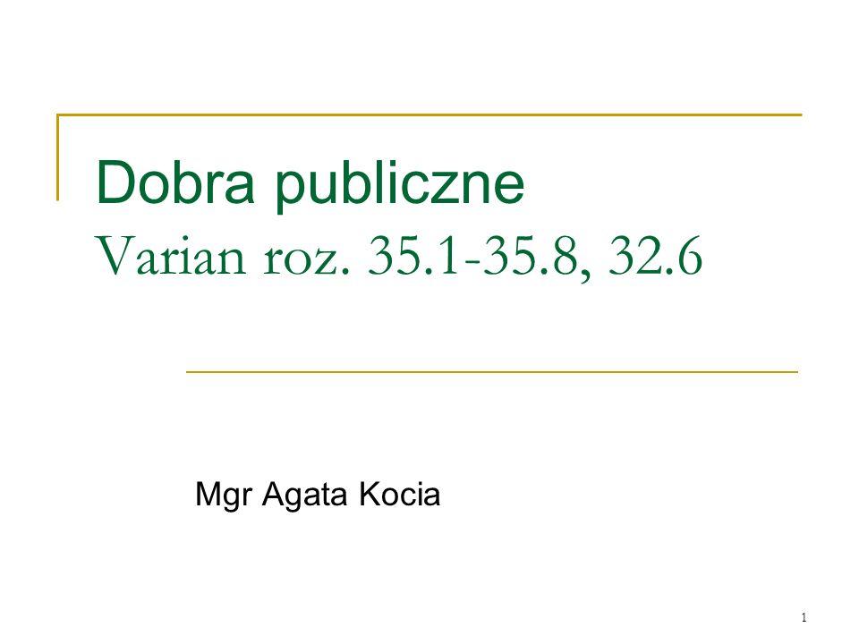 Dobra publiczne Varian roz. 35.1-35.8, 32.6