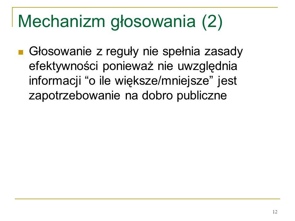 Mechanizm głosowania (2)