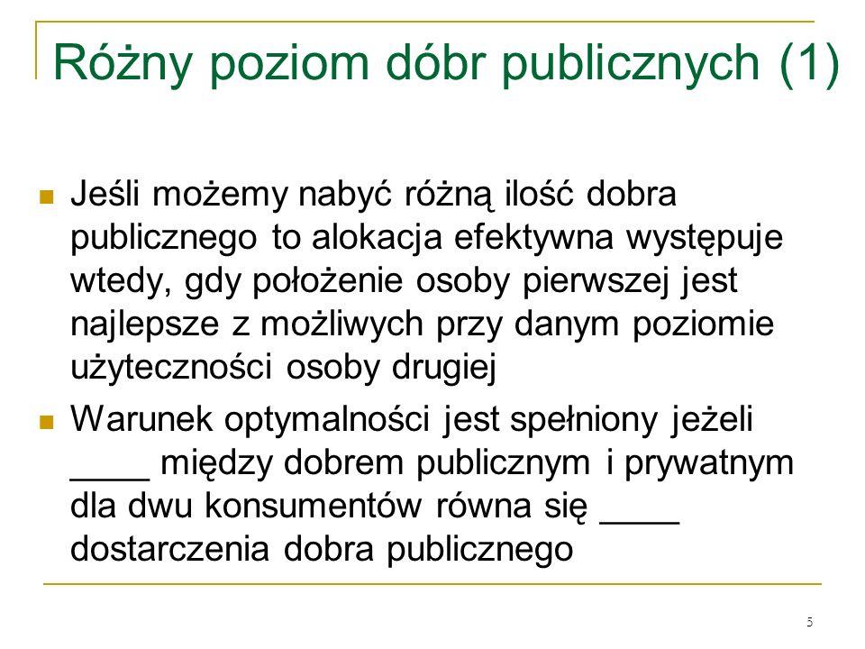 Różny poziom dóbr publicznych (1)