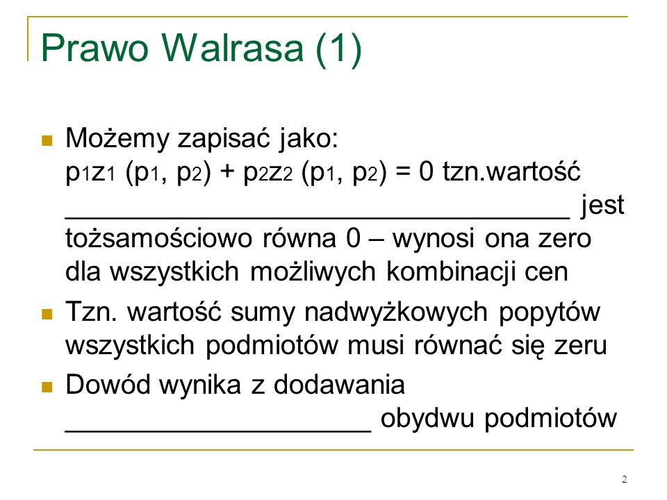 Prawo Walrasa (1)
