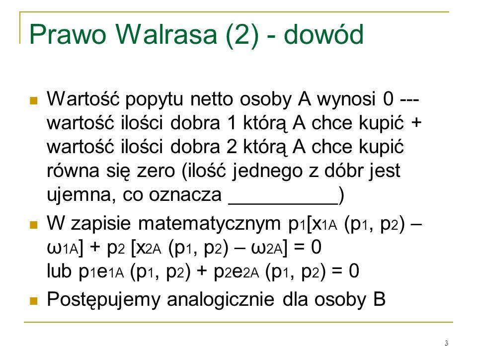 Prawo Walrasa (2) - dowód