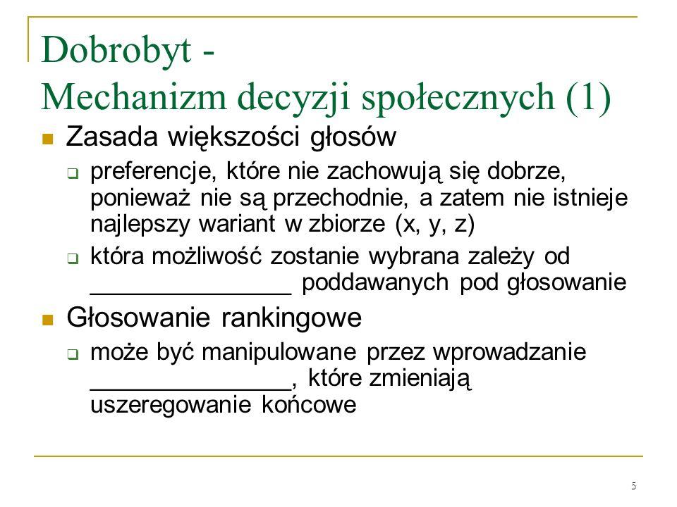 Dobrobyt - Mechanizm decyzji społecznych (1)