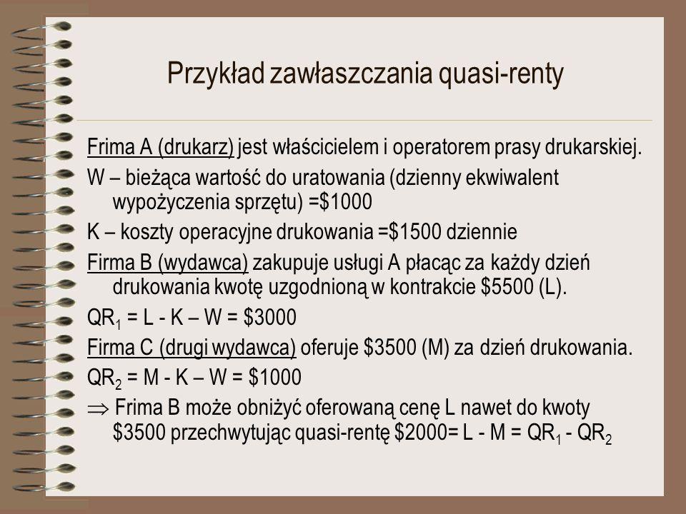 Przykład zawłaszczania quasi-renty