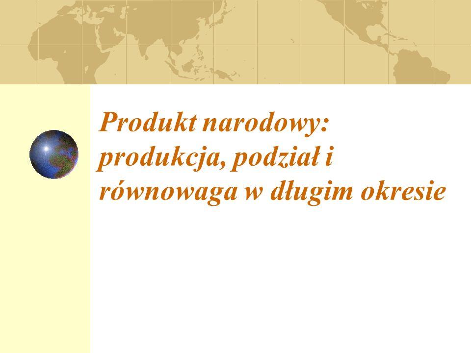 Produkt narodowy: produkcja, podział i równowaga w długim okresie