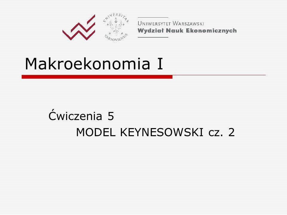 Ćwiczenia 5 MODEL KEYNESOWSKI cz. 2