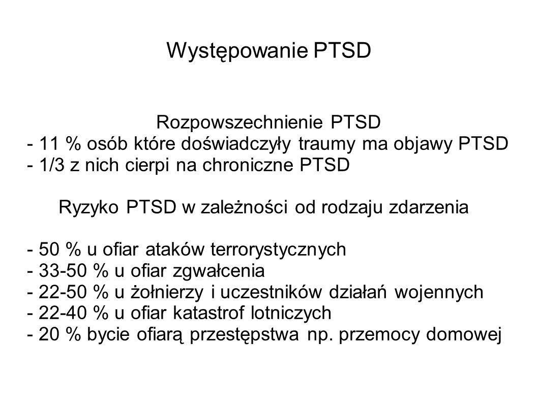 Rozpowszechnienie PTSD