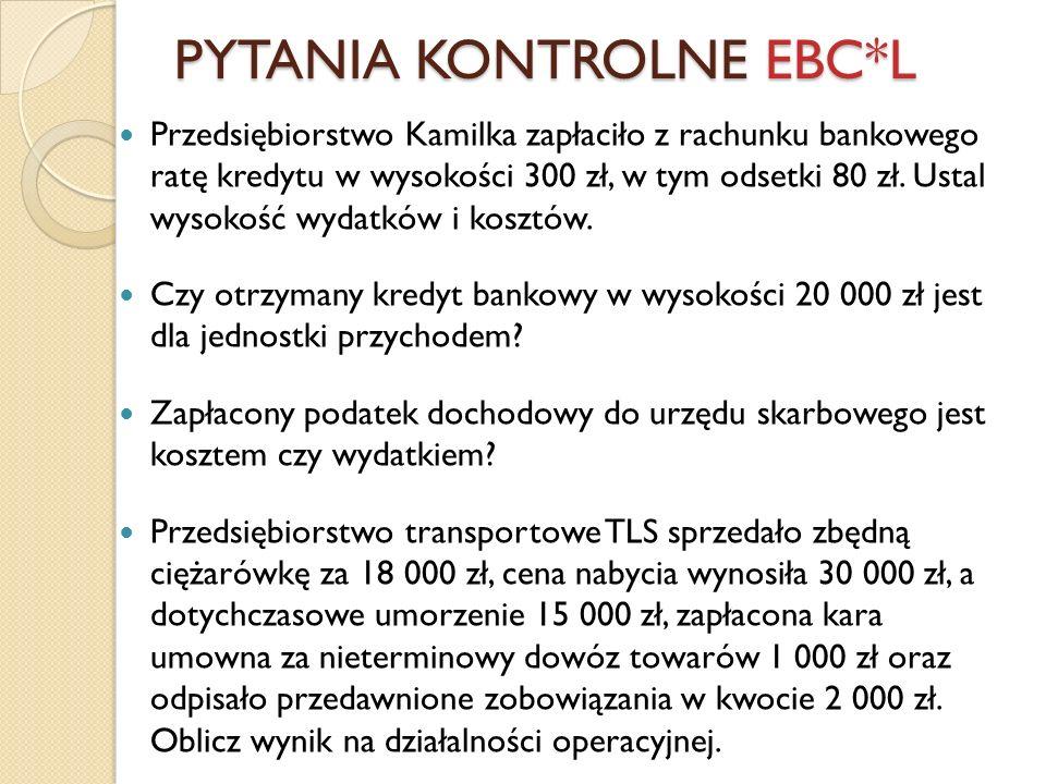 PYTANIA KONTROLNE EBC*L